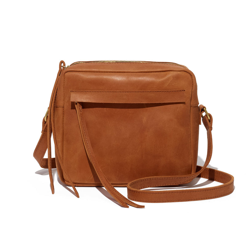 Addis Camera Bag // Cuoio - Raven + Lily