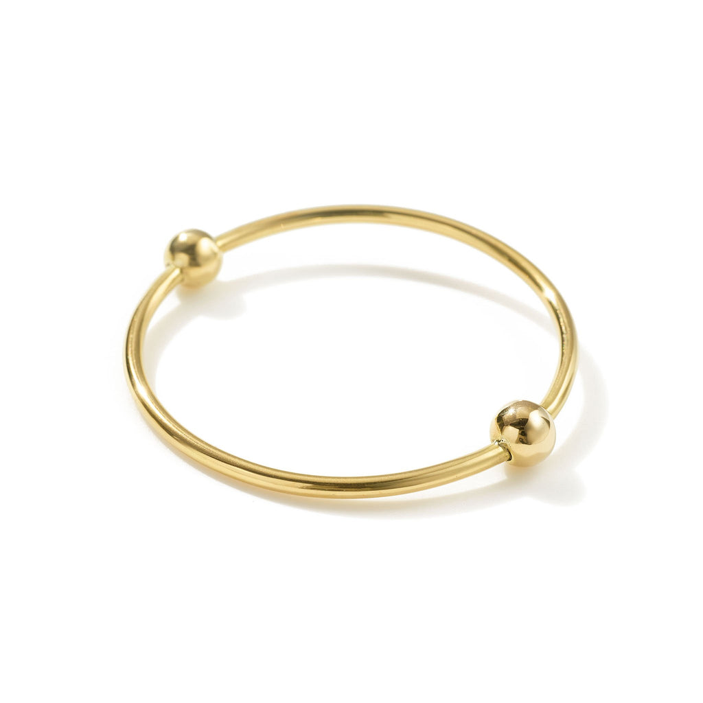 Aida Double Orbit Bangle // Brass - Raven + Lily