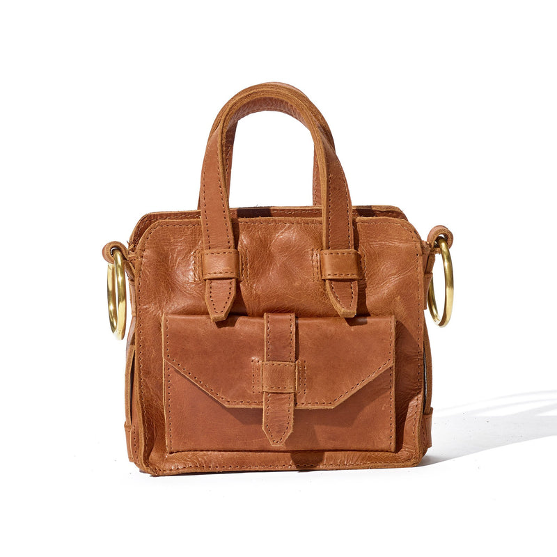 Day Mini Carryall // Cuoio - Raven + Lily