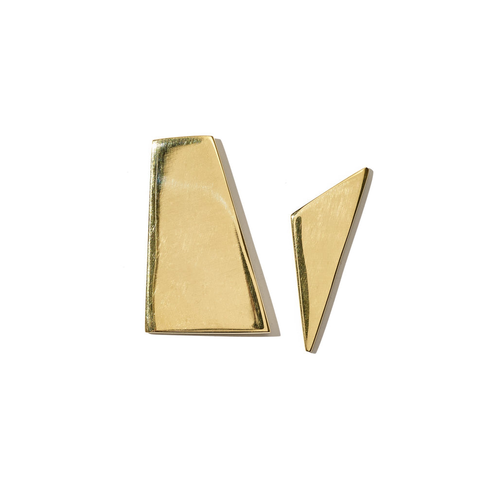 Ellsworth Studs XL // Brass - Raven + Lily