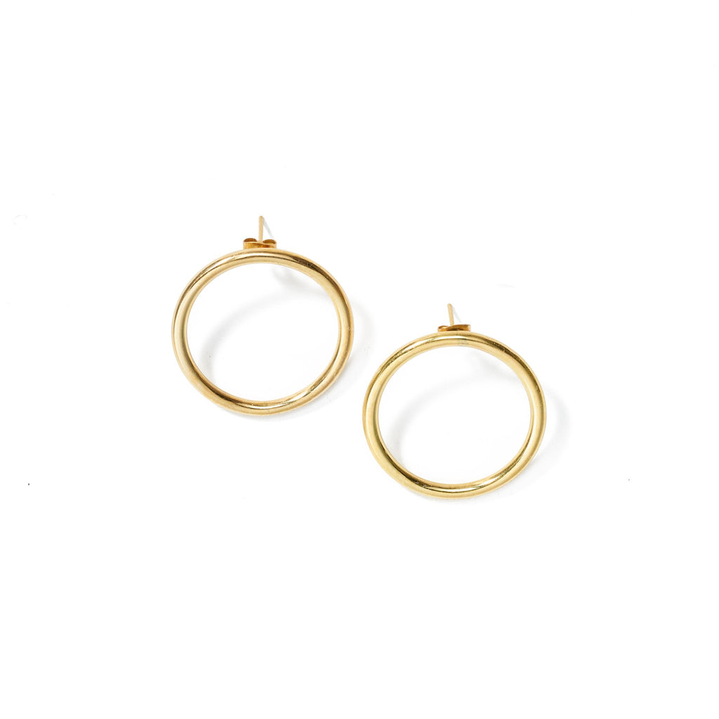 Aida Large Hoops // Brass - Raven + Lily