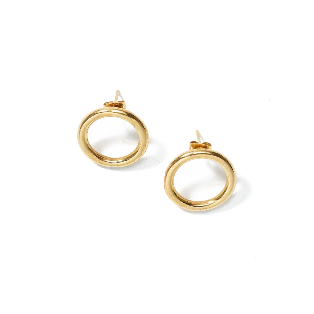 Aida Small Hoops // Brass - Raven + Lily