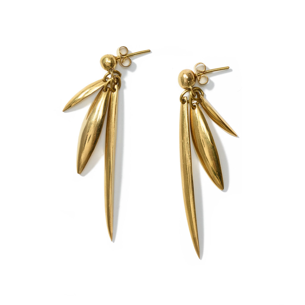 Yiana Earrings // Brass - Raven + Lily