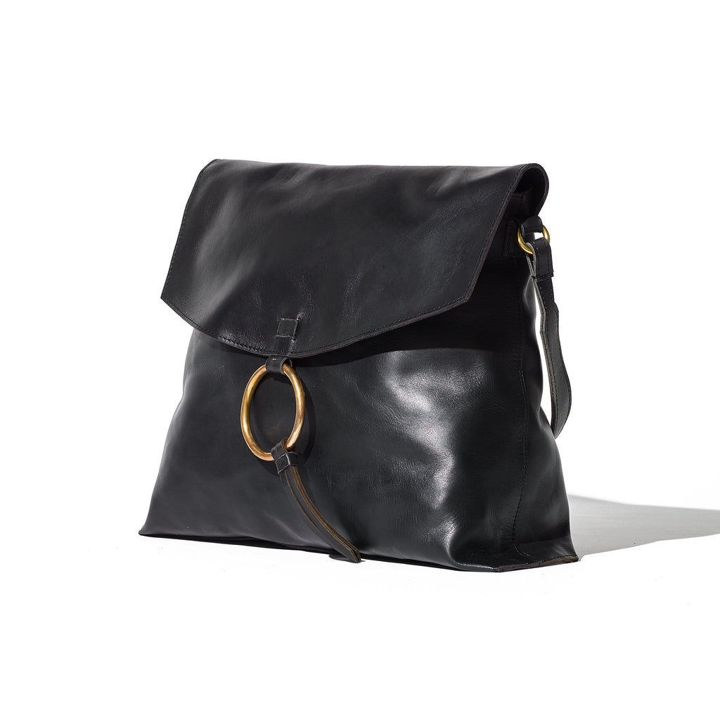 Flap Ring Bag - Large // Black - Raven + Lily