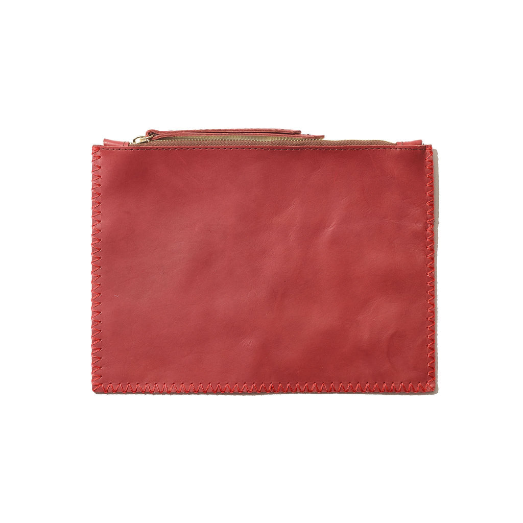 Mara Pouch // Rhubarb + Hot Red - Raven + Lily