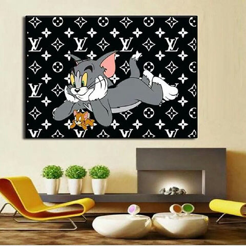 Tom & Jerry Inspired Wall Art Print