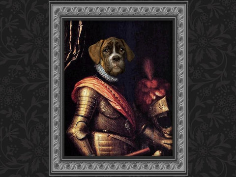 Unique Classic Royal Pet Portrait