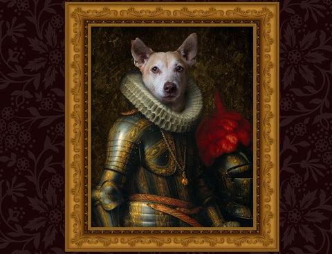 Unique Knight Pet Portrait
