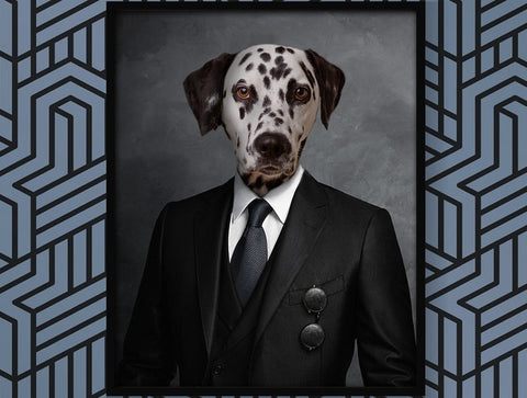 Unique Pet in Suit Portrait