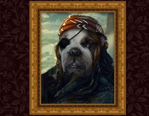 Unique Pirate Pet Portrait