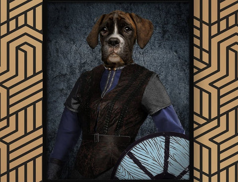 Unique Viking Pet Portrait