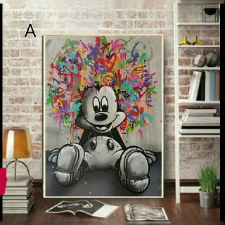 Mickey Mouse Inspired Wall Art A-F