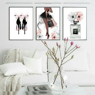 Women Love Perfumes & Heels Wall Art Print