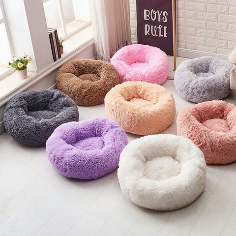 Round Warm Pet Sleeping Bed