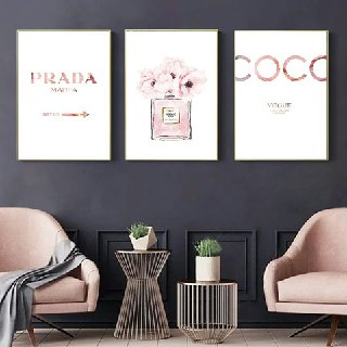 Pink Perfume Inspired Wall Art