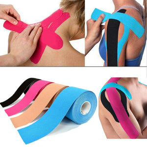 5M Waterproof Breathable Cotton Kinesiology Tape Sports Elastic Roll Adhesive Muscle Bandage Pain Care Tape Knee Elbow Protector