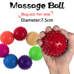 1 Pc 7.5cm Massage Ball Roller Reflexology Stress PVC Relief For Body Yoga Massage Balls PVC Easy To Use Pocket Masseur Pilates