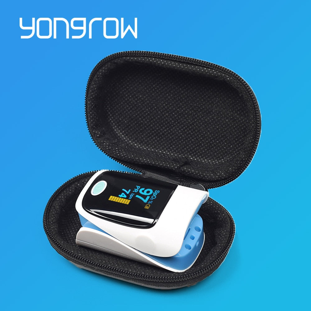 Yongrow Medical Household Digital Fingertip pulse Oximeter Blood Oxygen Saturation Meter Finger SPO2 PR Monitor health Care CE