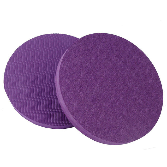 2PCS/Set Portable Small Round Knee Pad Yoga Mats Fitness Sprot Pad Plank Gym Disc Protective Pad Cushion Non Slip TPE Mat 25