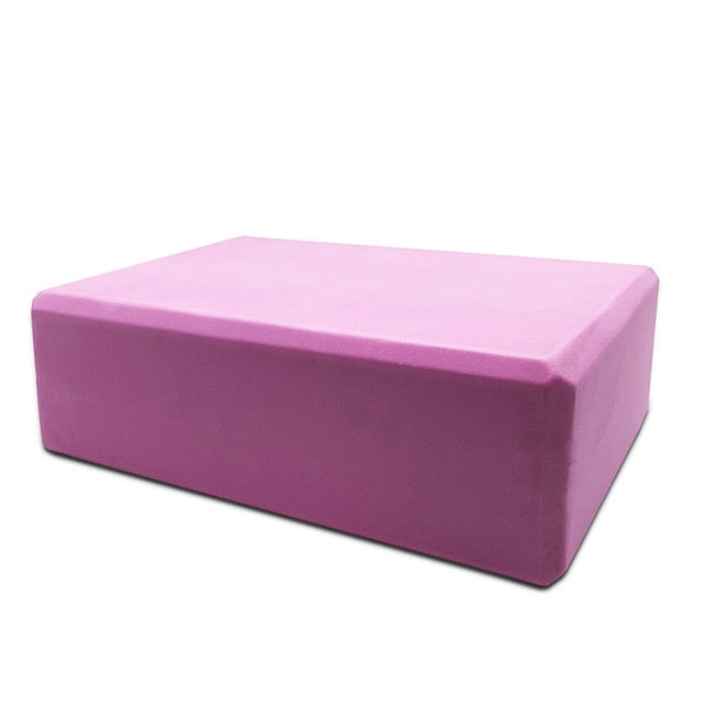 16 Colors Pilates EVA Yoga Block Brick Sports Exercise Gym Foam Workout Stretching Aid Body Shaping Health Training for women S