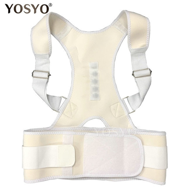 YOSYO Posture Corrector Magnetic Therapy Posture Corrector Brace Adjustable Shoulder Back Brace Support Belt NO Slouching