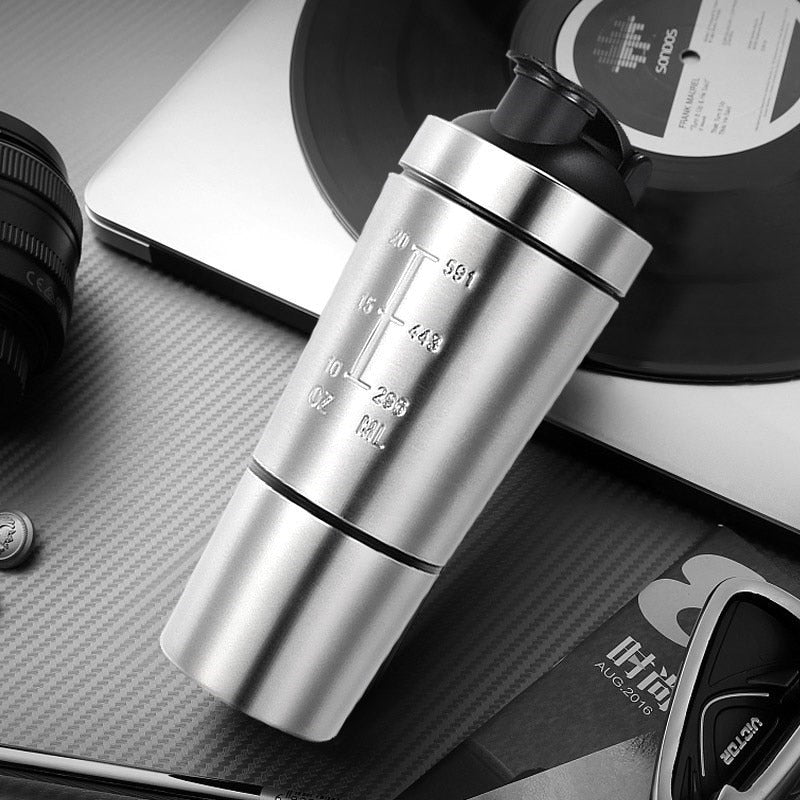 Detachable Stainless Steel Shaker Bottle