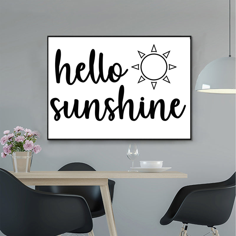 Hello Sunshine Canvas