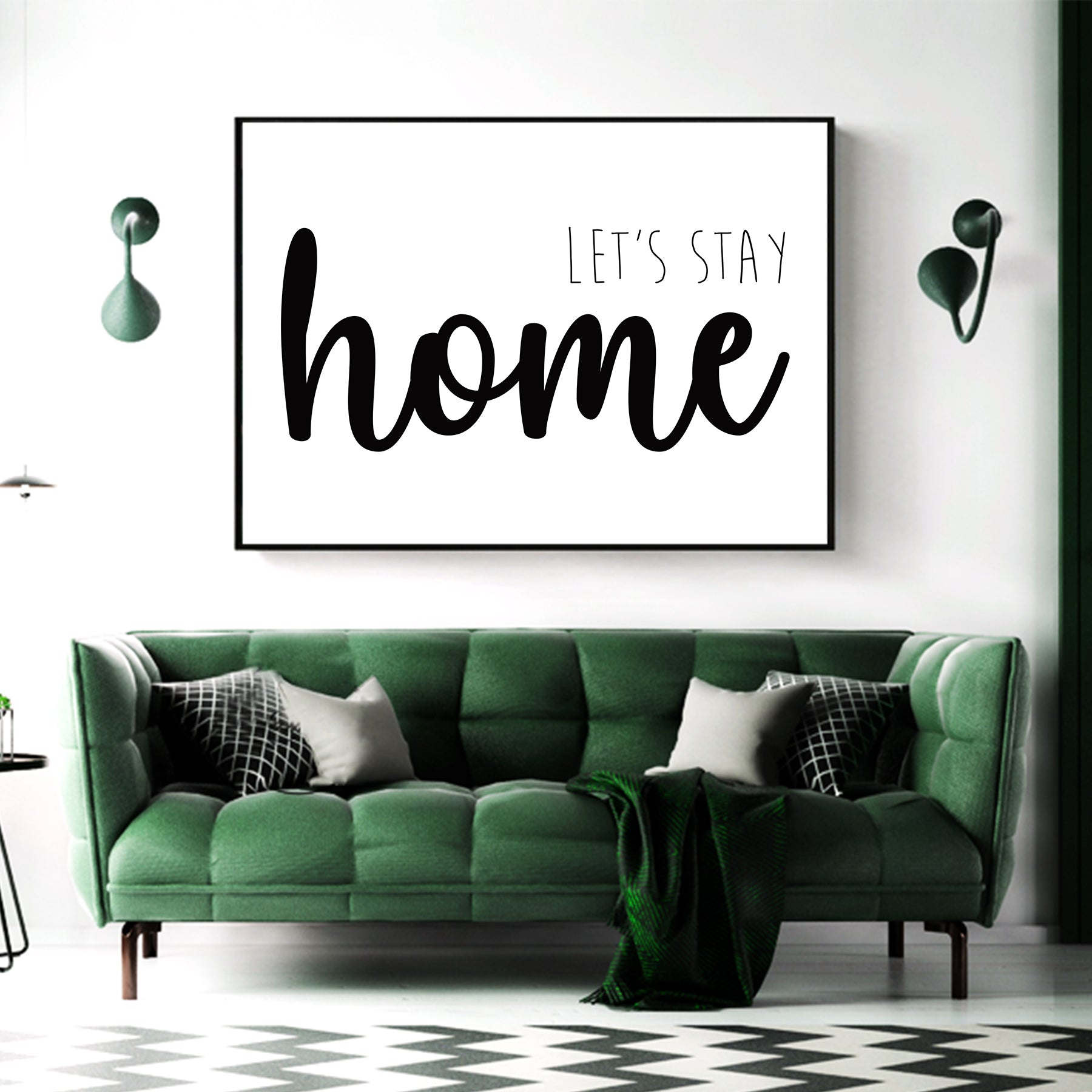 Let's Stay Home Canvas