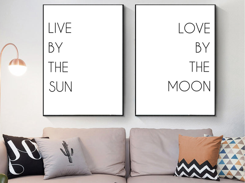 Live by the Sun, Love by the Moon Canvas