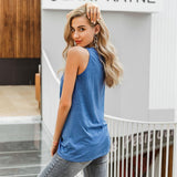 Sleeveless twist knot loose top