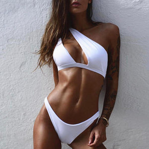 One Shoulder High Cut Bathing Suit