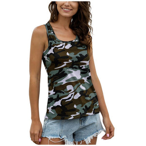 Camouflage Casual Tank Top