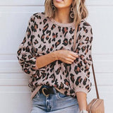 Casual Print Knitted Sweater