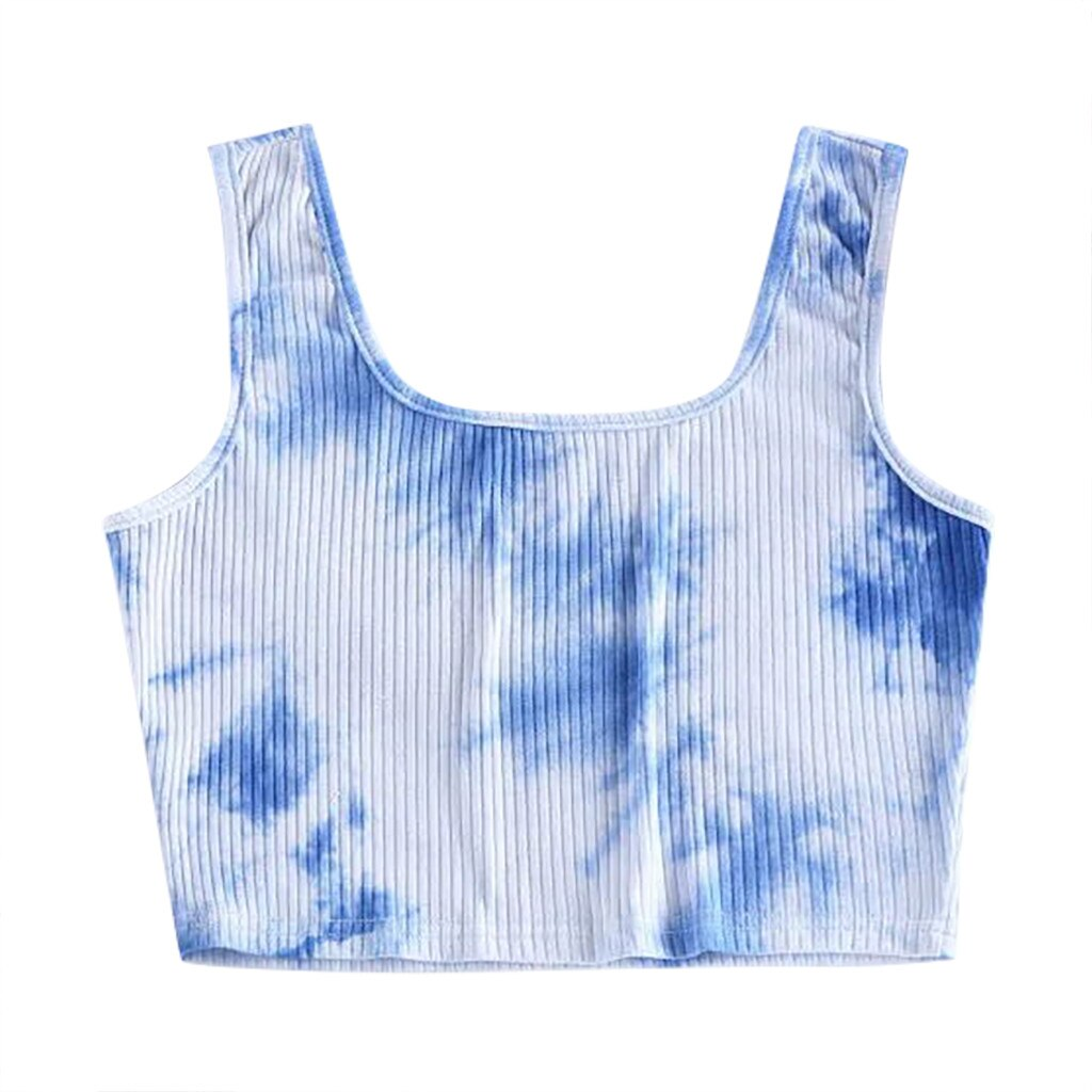 Tie-dye Gradient Color Crop Top