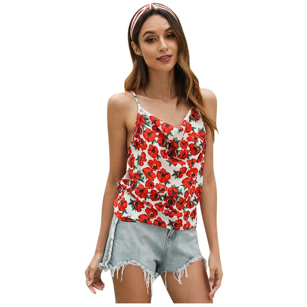 Sleeveless Floral Printed Tank Top