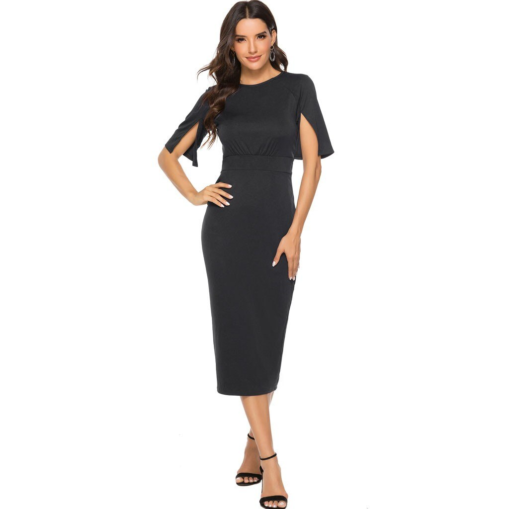 Fashion Open Sleeve Midi Dress