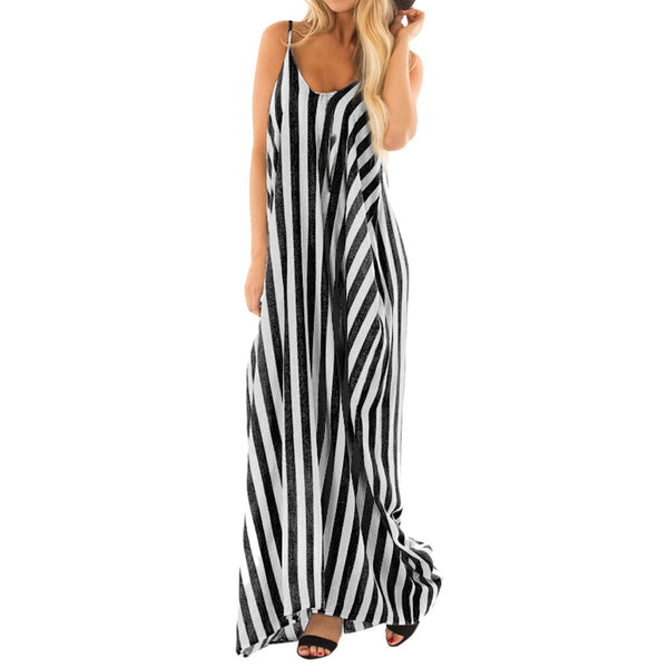 Bohemian Hippie Stripes Retro Sundress