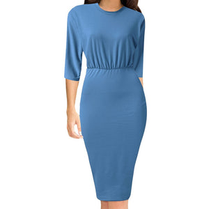 Flare Sleeve Sheath Tunic Dress