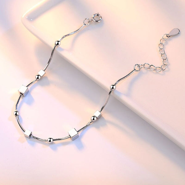 Star Square Link Chain Bracelet