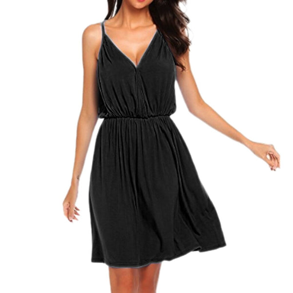 Ruched Sleeveless Oversized Dress