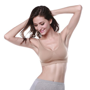 Active Push Up Seamless Cotton Bra