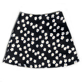 Floral Printed Satin High Waist Skirt