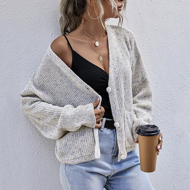 Loose Knit Open Cardigan