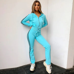 Striped Hooded Tracksuit