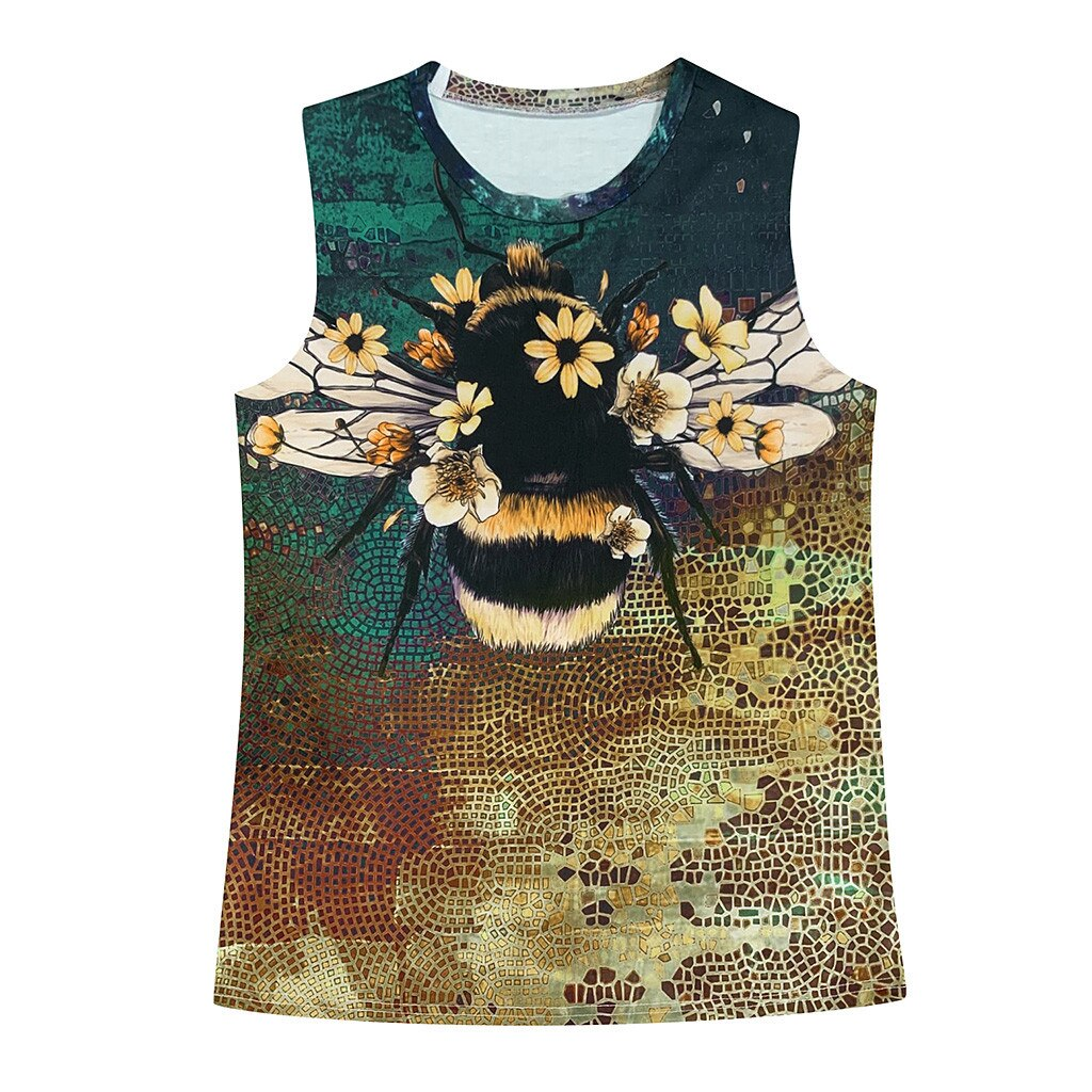 3D Animal Printed Tank Top