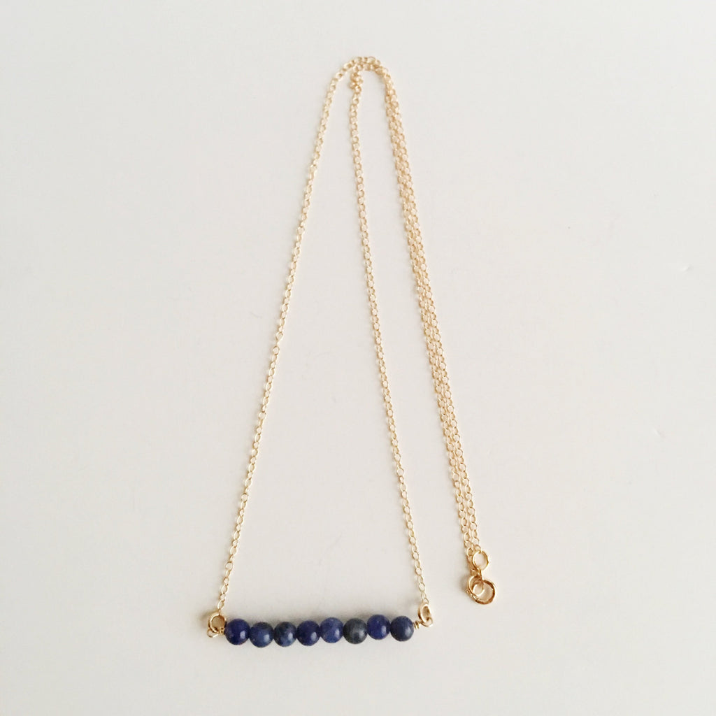 Sodalite Wire Wrapped Necklace