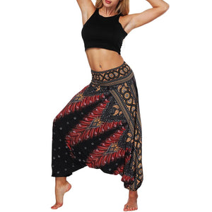 Casual Print Baggy Trousers Pants & Capris woweile 2 Store