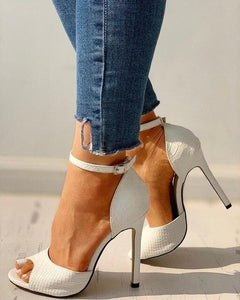 Exquisite High Heels Stiletto Sandals Shoes DAHOOD Store white 34