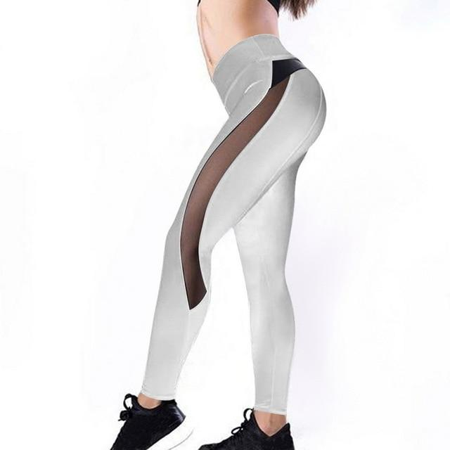Meshed Down Leggings Leggings MUSTY Store gray S