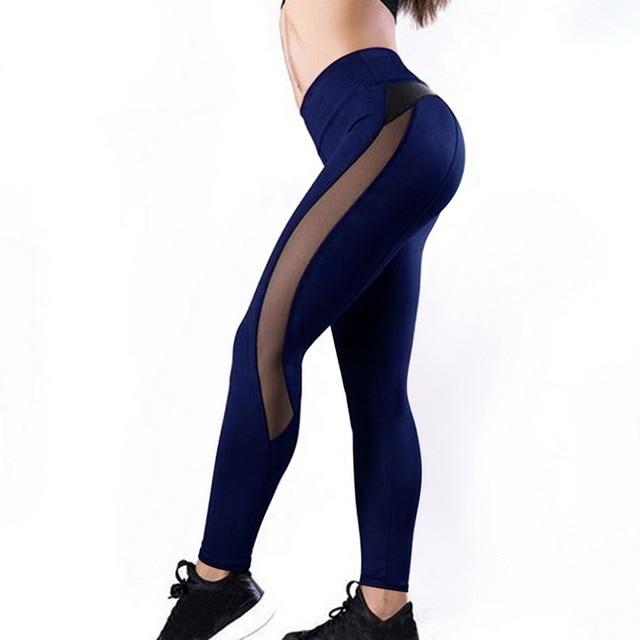 Meshed Down Leggings Leggings MUSTY Store navy S